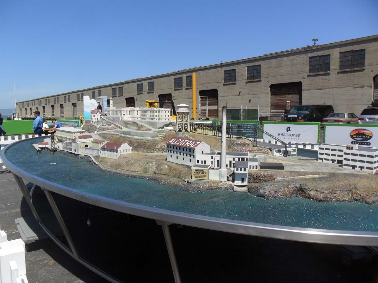 Alcatraz Adası'nın maketi