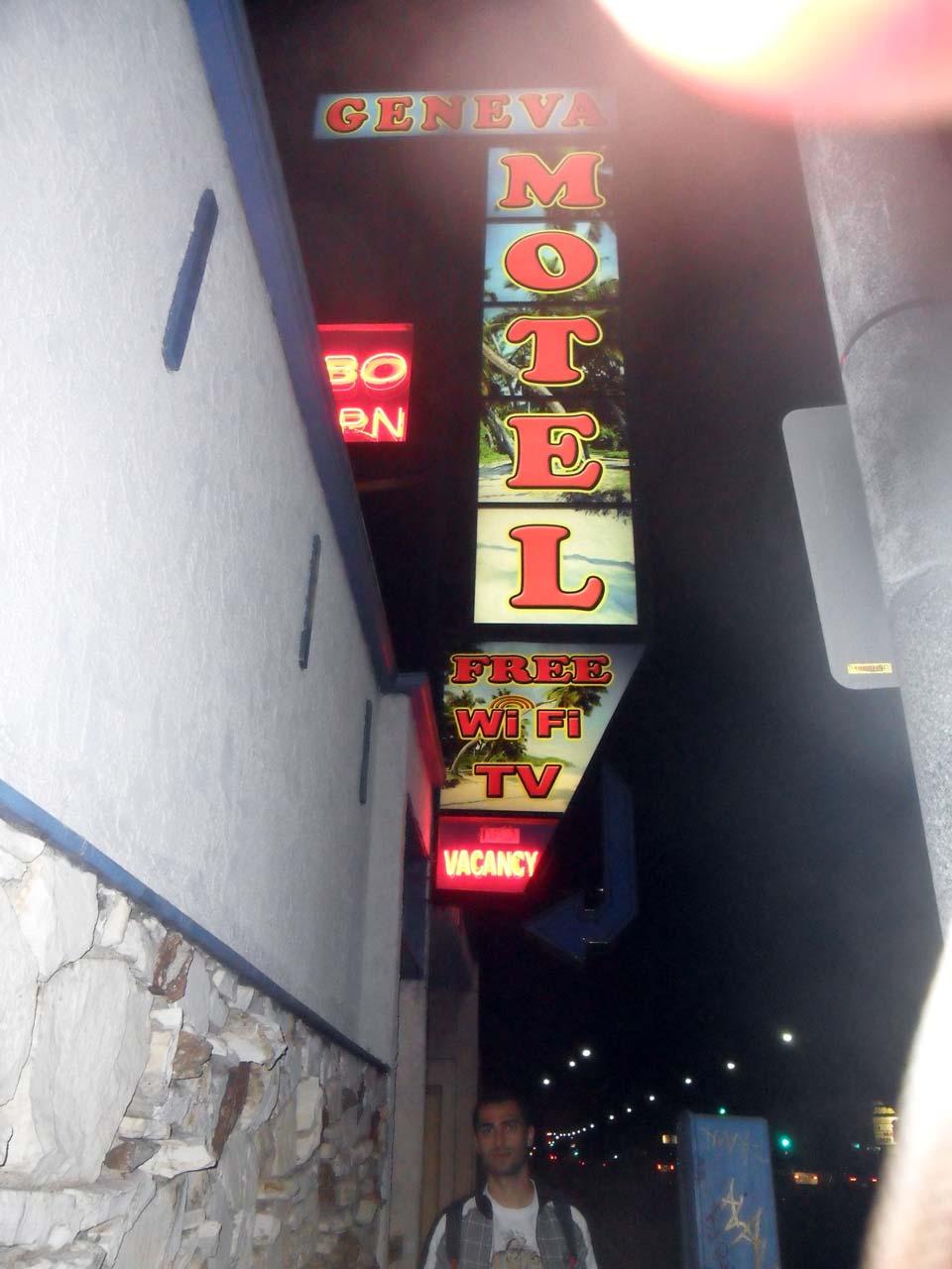 Ve son olarak motelimiz Geneva Motel…