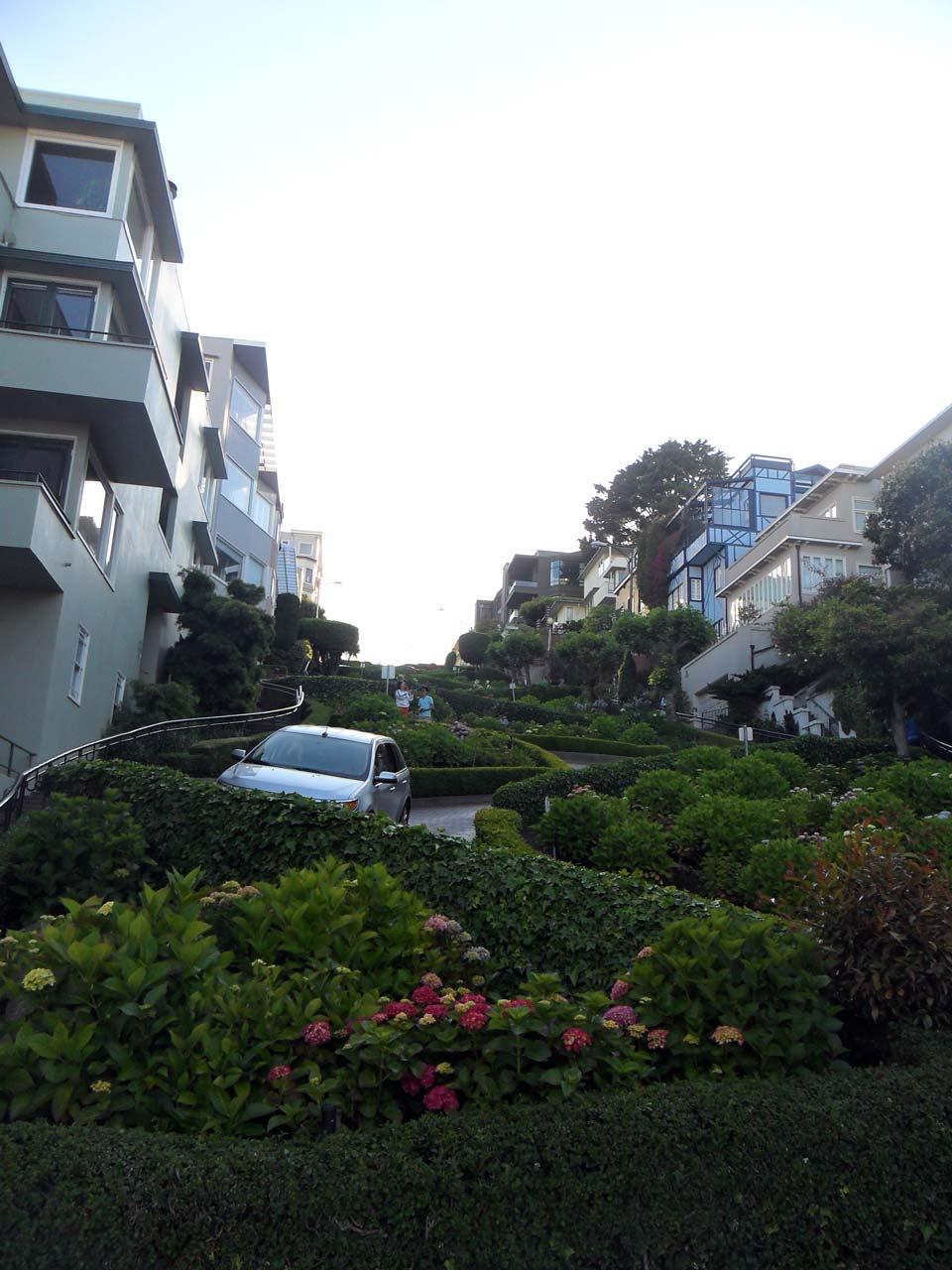 Meşhur zikzak yol..Lombard Street