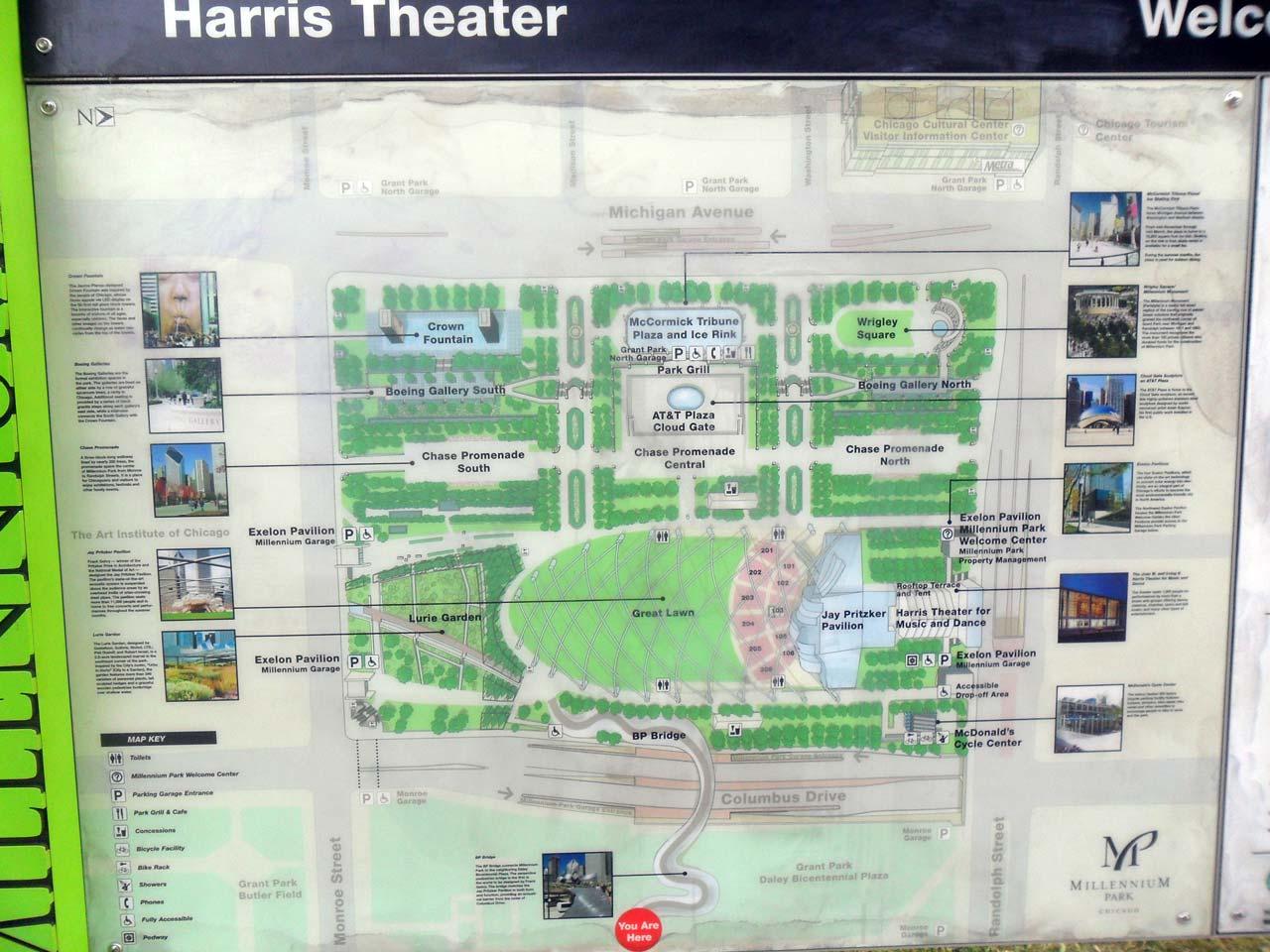 Millenium Park haritası