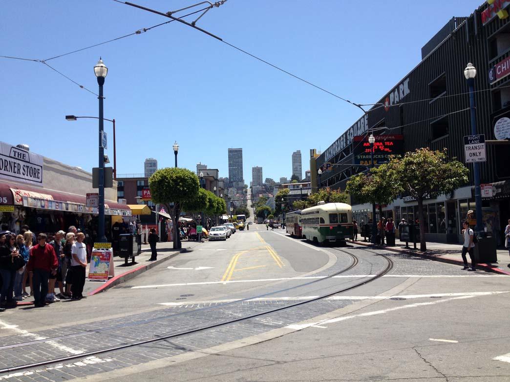 San Francisco'nun meşhur düz ve eğimli yolları