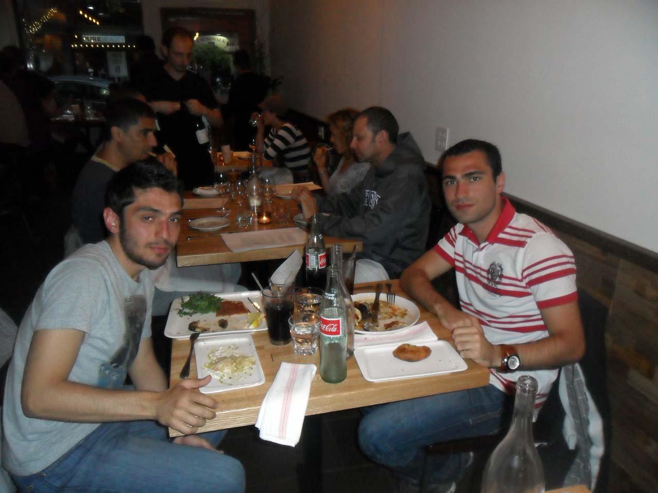 Yine bir Türk restoranı bulduk