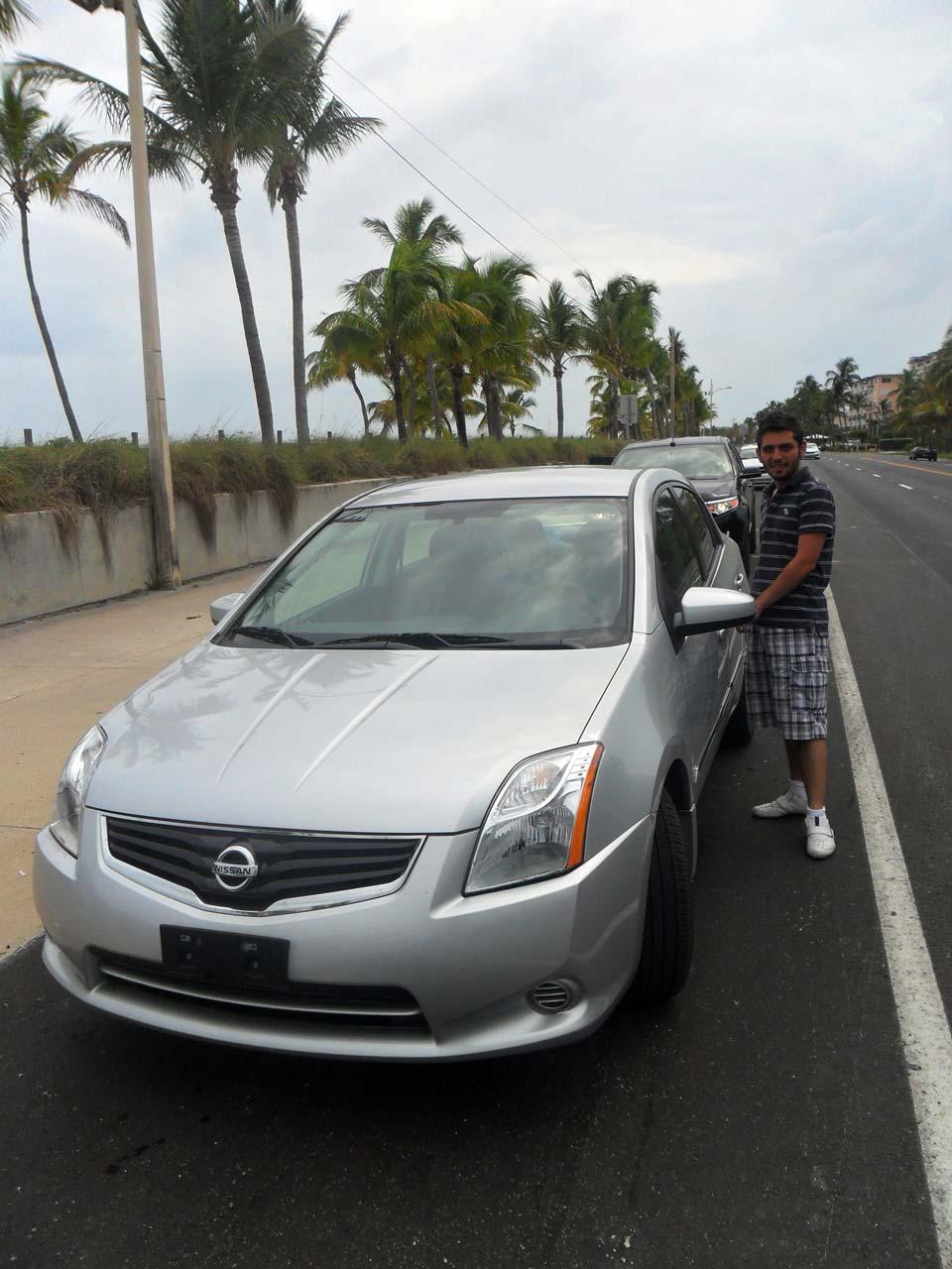 Bu da kiraladığımız 4. arabamız Nissan Sentra